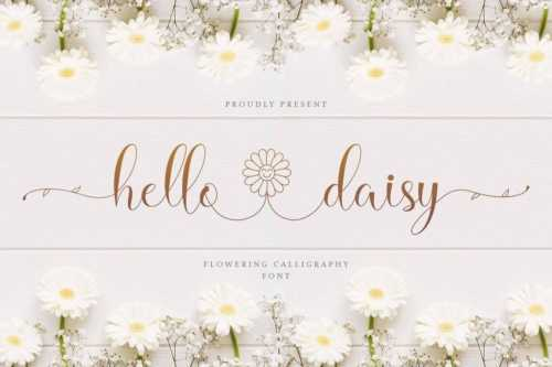 flowers calligraphy font